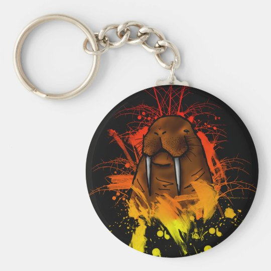 Walrus Basic Round Button Key Ring
