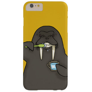Walrus brushing its teeth barely there iPhone 6 plus case