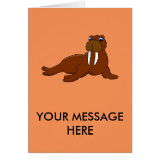 Walrus design matching stationery card