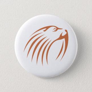 Walrus in Swish Drawing Style 6 Cm Round Badge