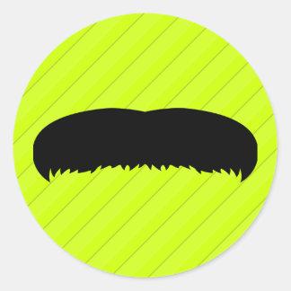 Walrus Mustache Classic Round Sticker
