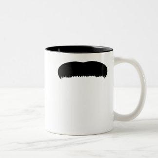 Walrus Mustache Two-Tone Coffee Mug