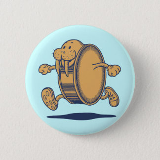 Walrus Run Drum 6 Cm Round Badge
