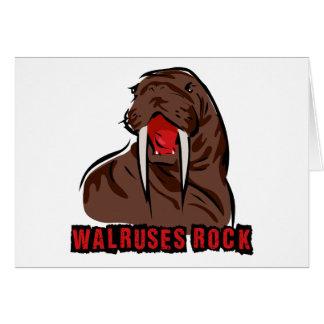 Walruses Rock Card