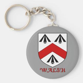 Walsh Family Shield Keychain