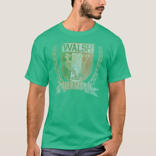 Walsh Irish Crest t shirt