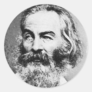 Walt Whitman Classic Round Sticker