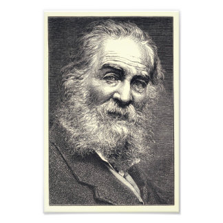 Walt Whitman Engraving, Age 52 Photo Art