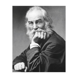 Walt Whitman Essential Portrait, Age 50 Canvas Print