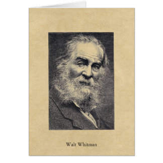Walt Whitman ❝Happiness...❞ in the Moment Postcard Greeting Card