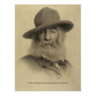Walt Whitman ❝Journey-work of the Stars❞ Postcard