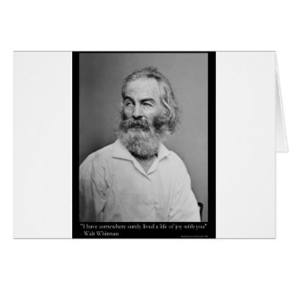 Walt Whitman Joy With You Love Quote Mugs Tees etc Greeting Card
