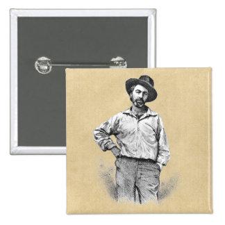 Walt Whitman Leaves of Grass 15 Cm Square Badge