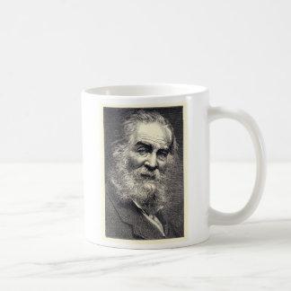 Walt Whitman Leaves of Grass Engraving Basic White Mug