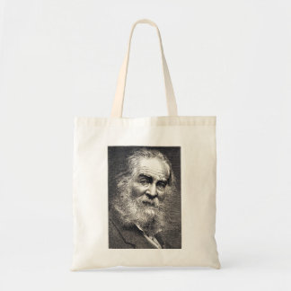 Walt Whitman Leaves of Grass Engraving Tote Bag
