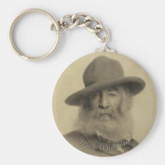 Walt Whitman The Good Grey Poet Basic Round Button Key Ring