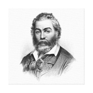 Walt Whitman Woodcut Engraving Before the War Canvas Prints