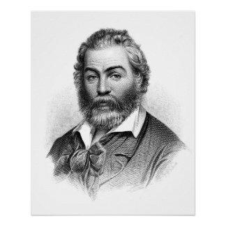 Walt Whitman Woodcut Engraving Before the War