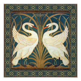 Walter Crane Swan, Rush And Iris Art Nouveau Art Photo