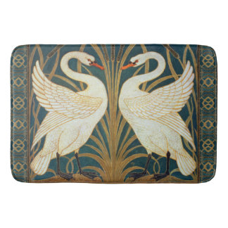 Walter Crane Swan, Rush And Iris Art Nouveau Bath Mat