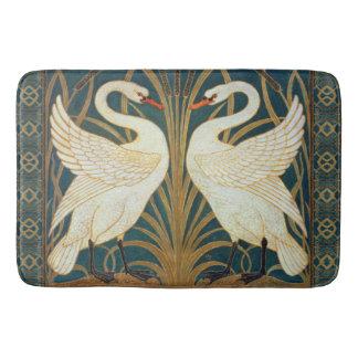 Walter Crane Swan, Rush And Iris Art Nouveau Bath Mats