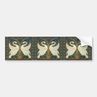 Walter Crane Swan, Rush And Iris Art Nouveau Bumper Sticker