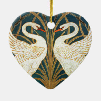 Walter Crane Swan, Rush And Iris Art Nouveau Christmas Ornament