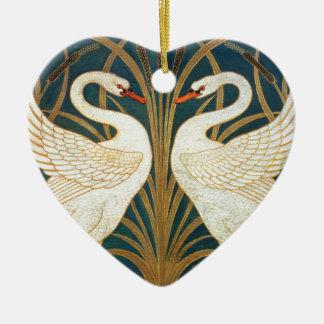 Walter Crane Swan, Rush And Iris Art Nouveau Christmas Ornament