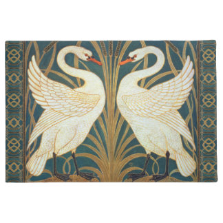 Walter Crane Swan, Rush And Iris Art Nouveau Doormat