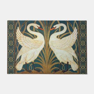 Walter Crane Swan, Rush And Iris Art Nouveau Doormat