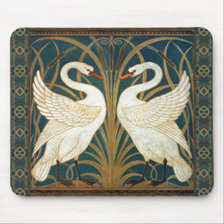 Walter Crane Swan, Rush And Iris Art Nouveau Mouse Mat