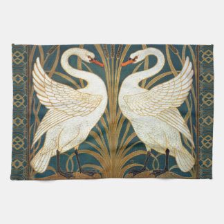 Walter Crane Swan, Rush And Iris Art Nouveau Tea Towel