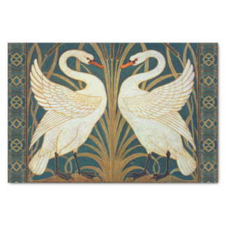 Walter Crane Swan, Rush And Iris Art Nouveau Tissue Paper