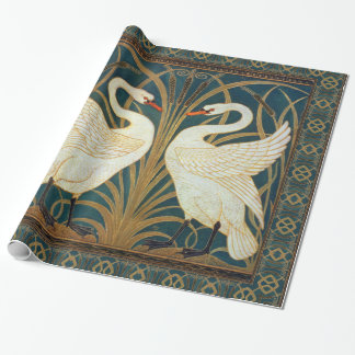Walter Crane Swan, Rush And Iris Art Nouveau Wrapping Paper