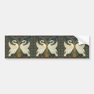 Walter Crane Swan, Rush And Iris Bumper Sticker