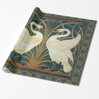 Walter Crane Swan, Rush And Iris Wrapping Paper
