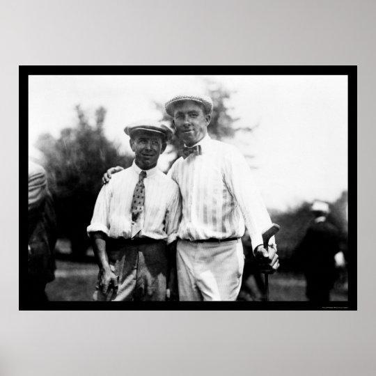 Walter Hagen Golf 1914 Poster
