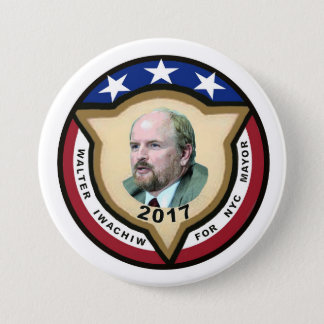 Walter Iwachiw for NYC Mayor in 2017 7.5 Cm Round Badge