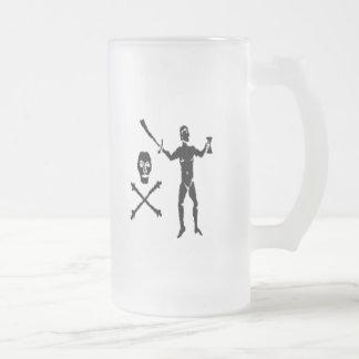 Walter Kennedy-Black Frosted Glass Mug
