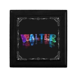 Walter - The Name Walter in 3D Lights (Photograph Gift Boxes
