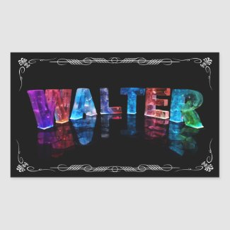 Walter - The Name Walter in 3D Lights (Photograph Stickers
