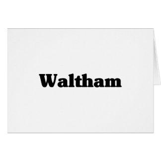 Waltham  Classic t shirts Greeting Card