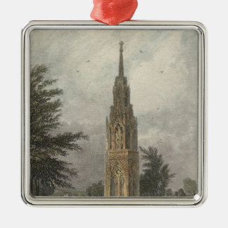Waltham Cross, c.1820 Silver-Colored Square Decoration