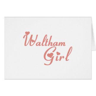 Waltham Girl tee shirts Greeting Card