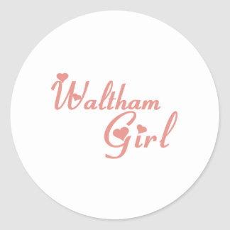 Waltham Girl tee shirts Sticker