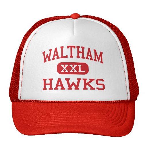 Waltham - Hawks - High - Waltham Massachusetts Mesh Hats