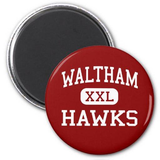 Waltham - Hawks - High - Waltham Massachusetts Magnets