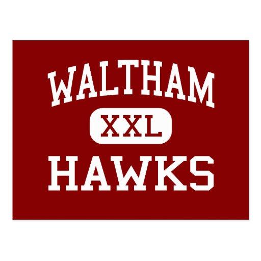 Waltham - Hawks - High - Waltham Massachusetts Post Card