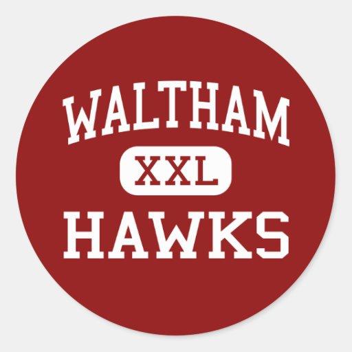 Waltham - Hawks - High - Waltham Massachusetts Stickers