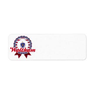 Waltham, MA Return Address Label